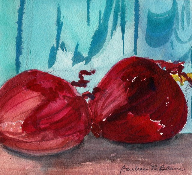 Red Onions Watercolor