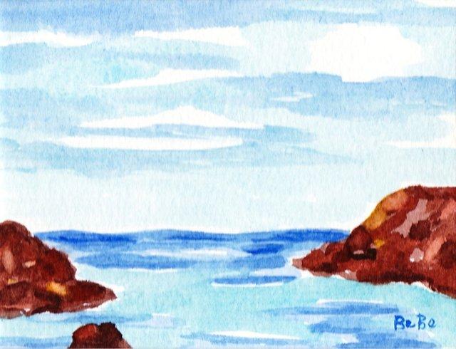 Maine Seascape w/ Rocks