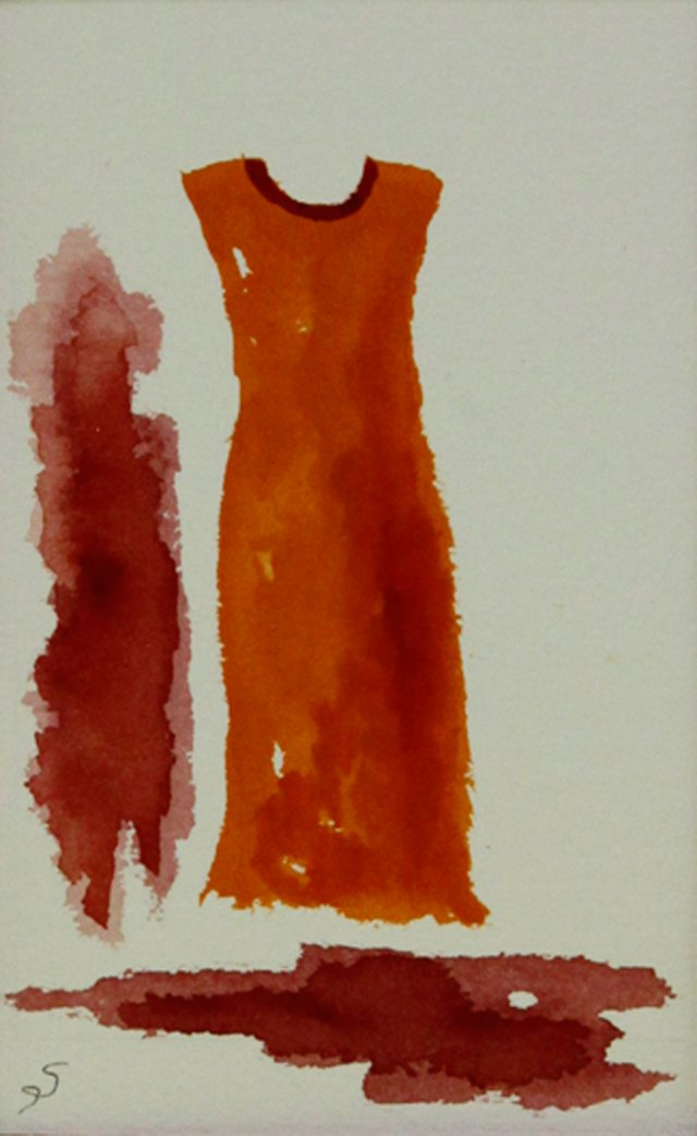 Orange Mod Dress w/ Red