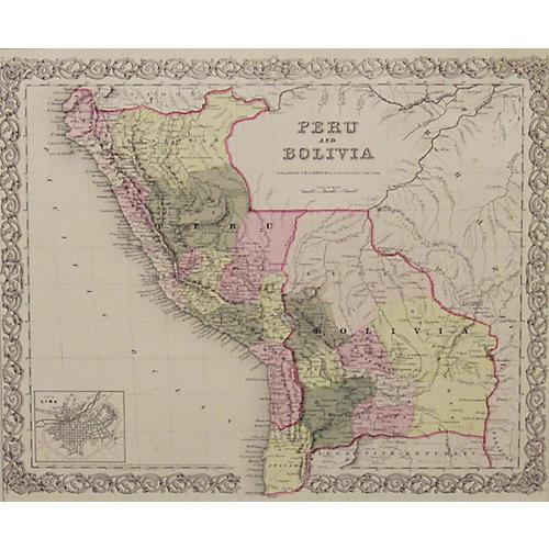 Peru & Bolivia, 1856