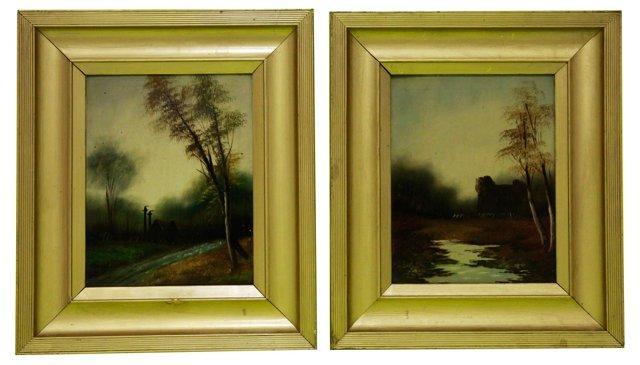 English Landscapes, Pair, C. 1860