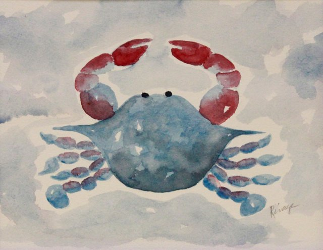 Blue Crab w/ Red & Blue Claws