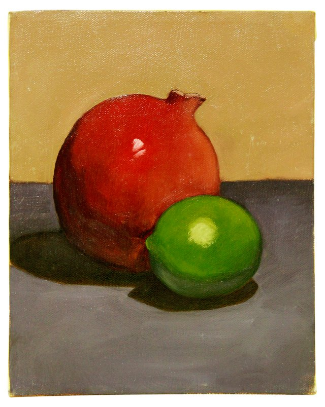 Pomegranate & Lime Still Life