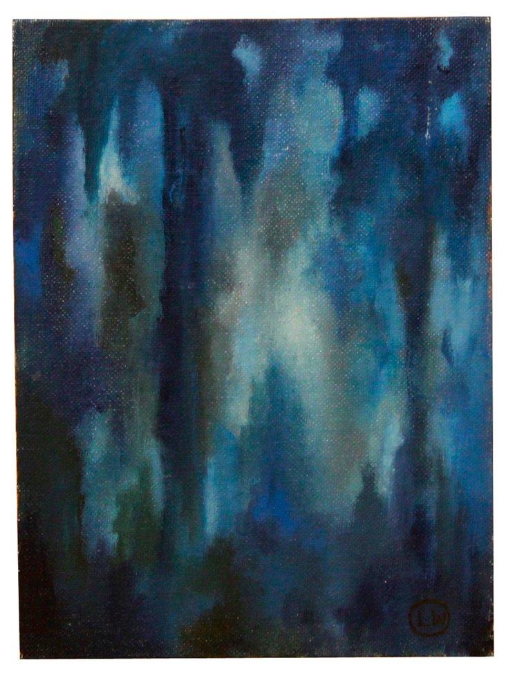Blue Bayou Night Abstract
