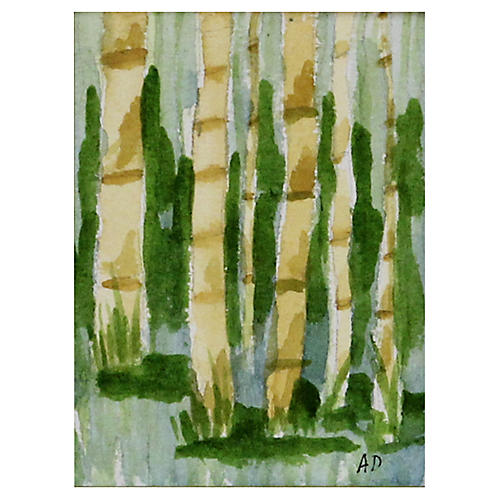 Bamboo w/ Green Background