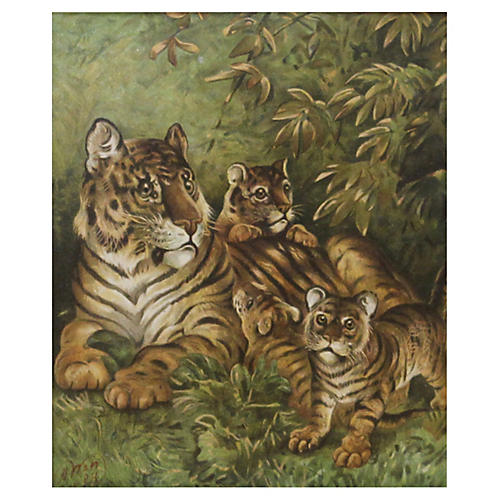 Tigress w/ Cubs, C. 1890