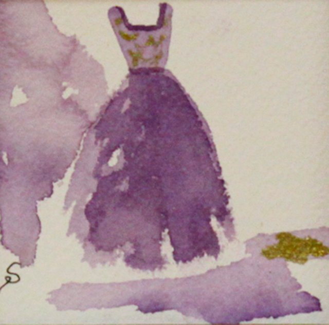 Purple Gown w/ Gold Accents