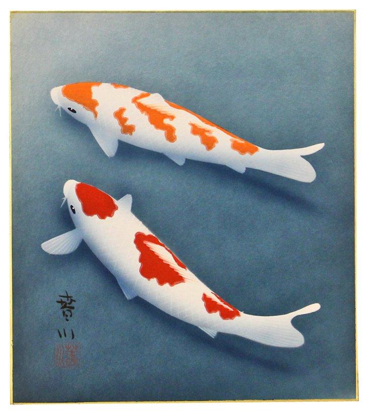 Red &  Orange Koi, C. 1960