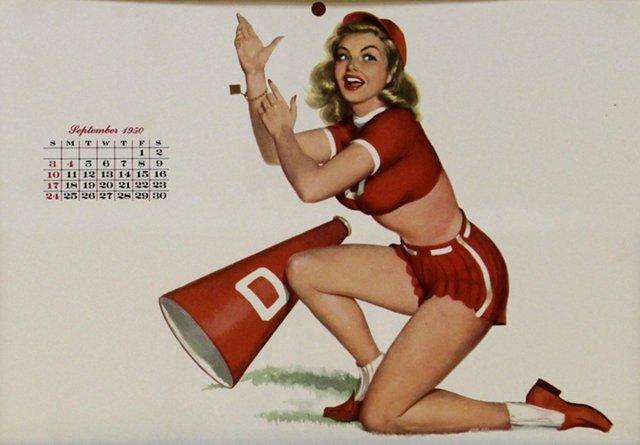 Cheerleader Pin-Up Girl, September 1950