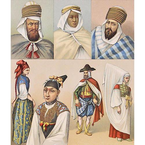 African Dress, Northern Algeria, 1888