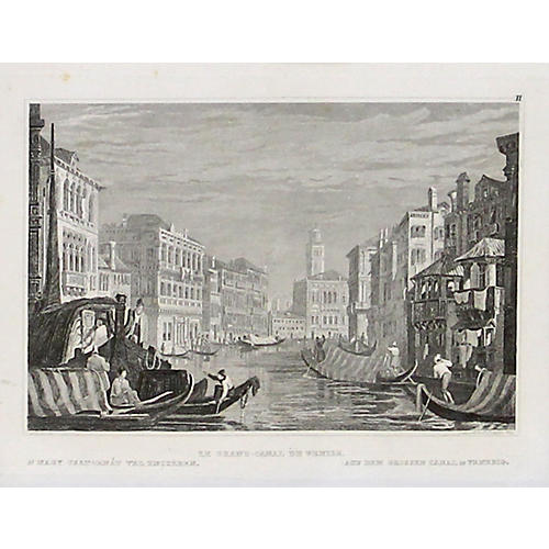 Venice's Grand Canal, 1830
