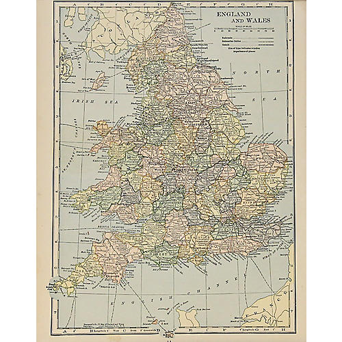 Map of England & Wales, 1929