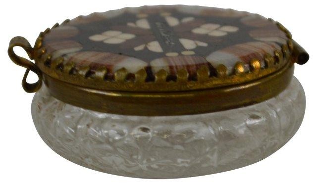 Inlaid Stone Glass Box