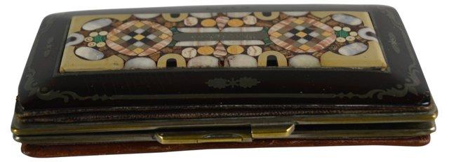 19th-C. Pietra Dura Card Case