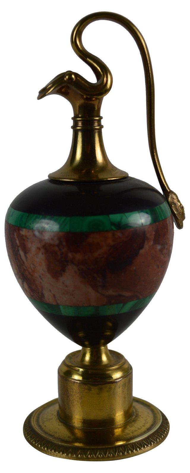 Malachite & Marble Specimen Urn