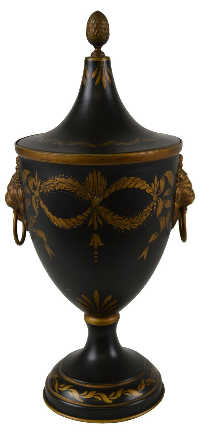 French Tole Chestnut Urn