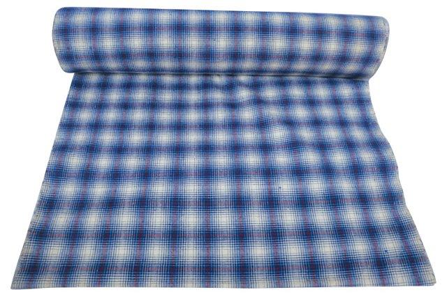 Plaid Madras Fabric, 15.5 Yds
