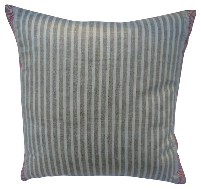 Striped French Linen Pillow
