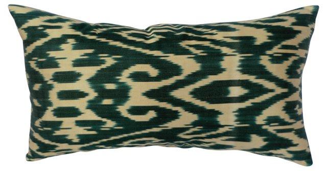 Green  Ikat Pillow