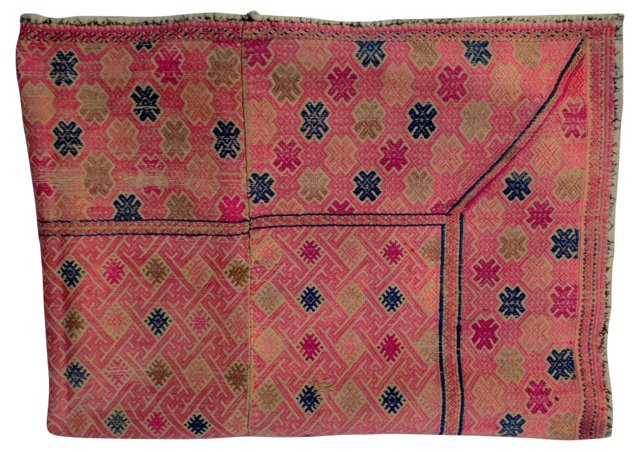 Tribal Embroidered  Quilt