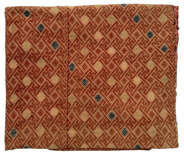 Silk Embroidered Tribal Throw
