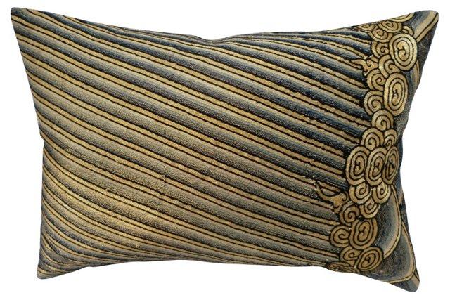 Pillow w/ Antique Opera Robe Fragment
