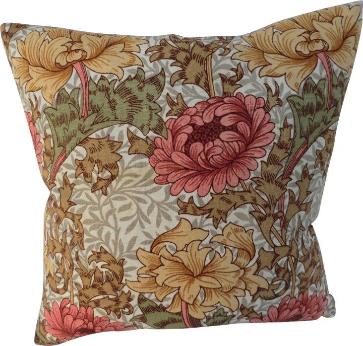 William Morris Chrysanthemum Pillow