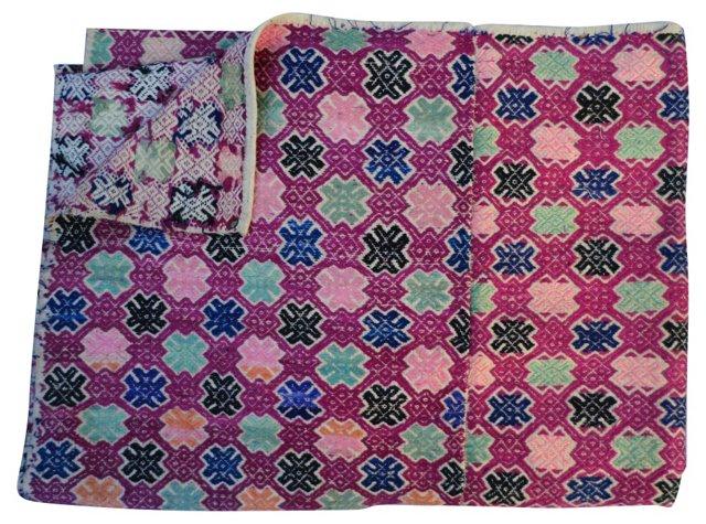 Silk Embroidered Quilt