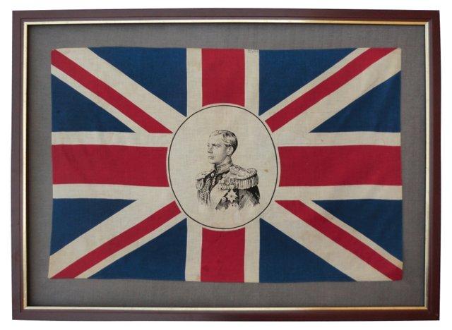 Framed King Edward Flag