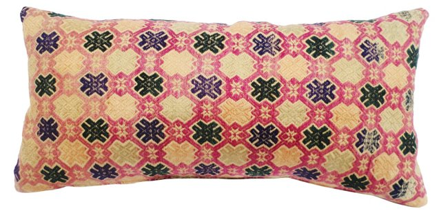 Embroidered Wedding  Quilt Pillow