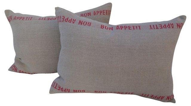 Bon Appetit Pillows, Pair