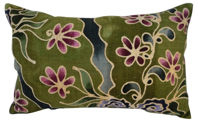 Hand-Batiked Linen Pillow