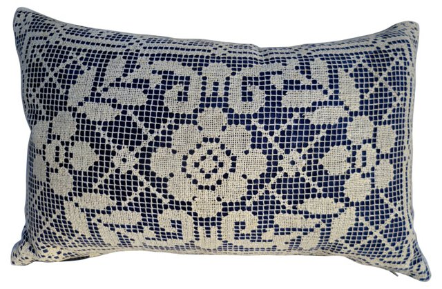 Hand-Worked Lace Pillow