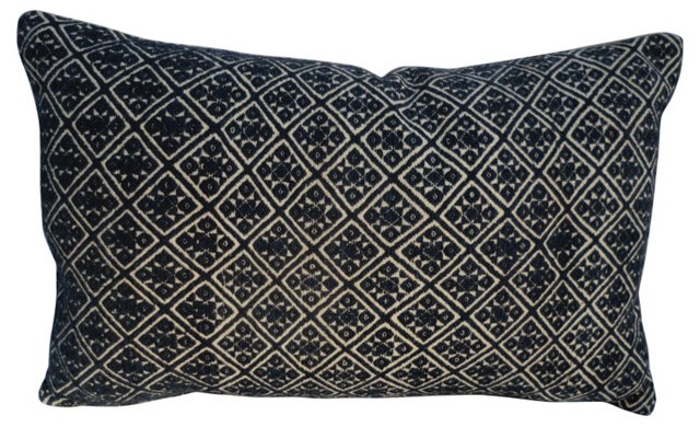 Silk Embroidered  Hill Tribe Pillow