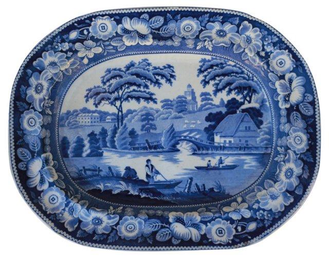 19th-C. English Wall   Platter