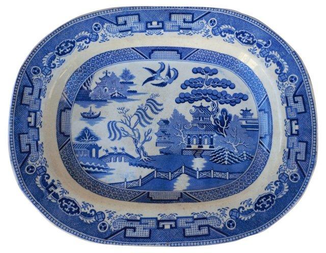 Blue  Willow Victorian Wall Platter