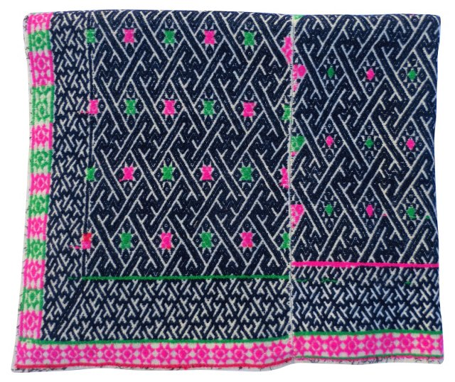 Embroidered Indigo Textile