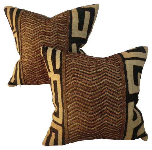 Kuba Pillows, Pair