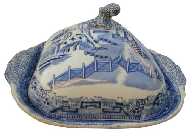 Victorian  Blue Willow Tureen