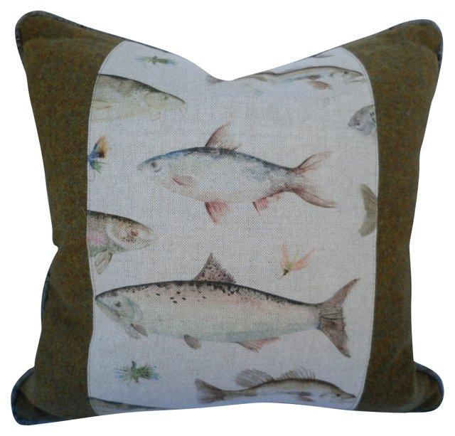 Wool & Linen Trout Pillow