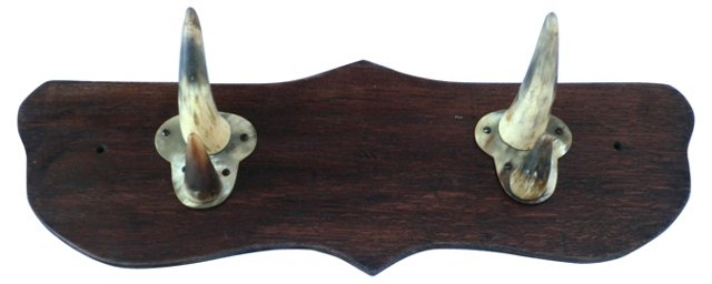 Edwardian Horn Coat Rack