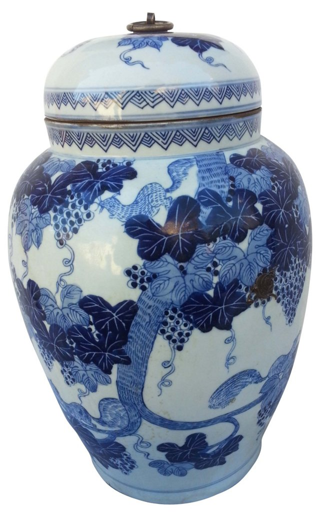 Hand-Painted Chinese Ginger  Jar