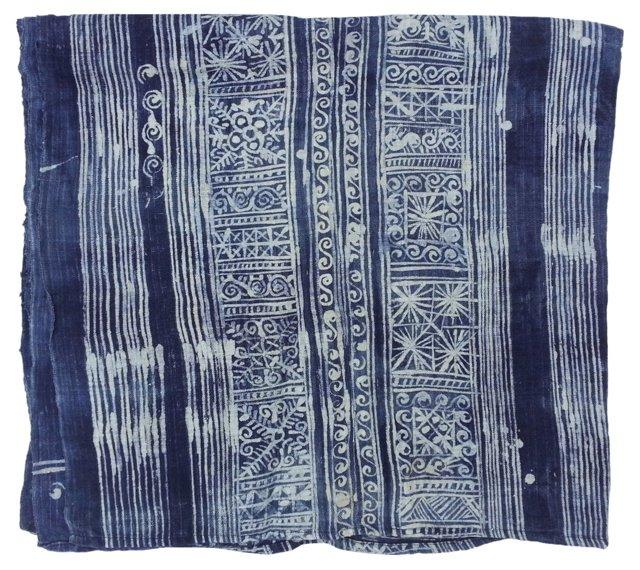 Linen Wax Resist Batik Throw