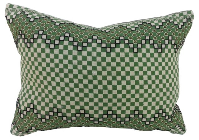 Irish Linen Plaid Pillow