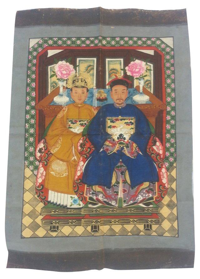Chinese Ancestor  Painting