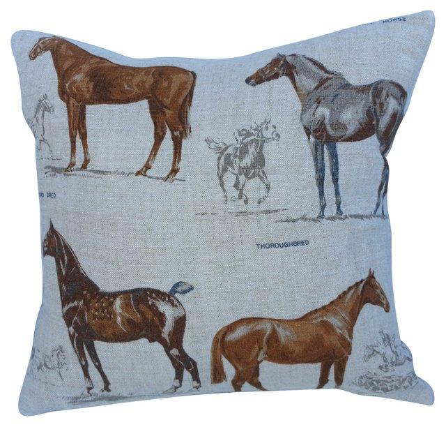 Equestrian  Irish Linen Pillow