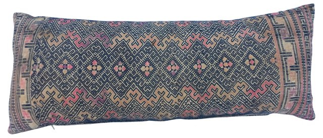 Jewel-Tone Embroidered Pillow