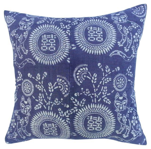 Cat Batik Pillow