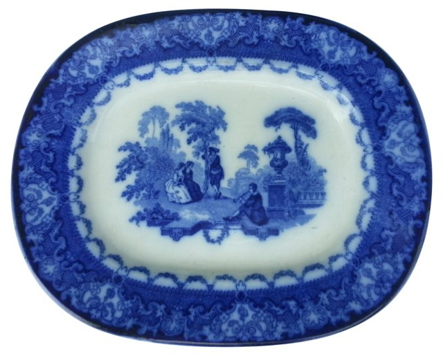 Victorian Flow Blue Wall Platter