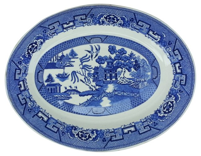 1930s Homer Laughlin  Willow Wall Plate